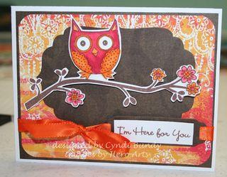 Pink-orange-owl